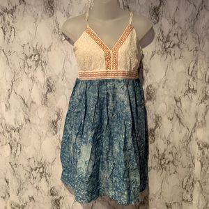 Flying Tomato Lace Embroidered Dress Lace Blue